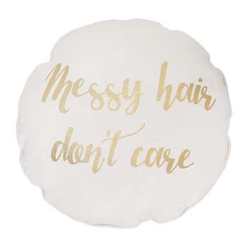 Bloomingville - 'Messy Hair Don't Care' Cushion (H45 x W45cm)