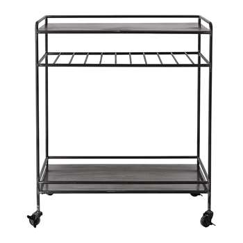 Bloomingville - Metal Bar Table - Black (H90 x W77 x D47cm)