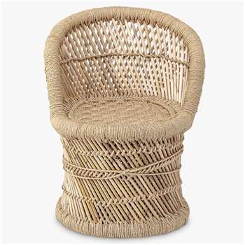 Bloomingville MINI Bamboo Children's Chair, Natural (H51 x W31 x D30cm)
