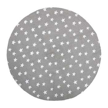 Bloomingville - Star Rug - Grey (Diameter 100cm)