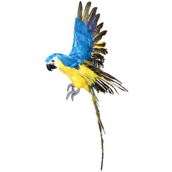 Blue and Yellow Flying Parrot (H66 x W61 x D42cm)