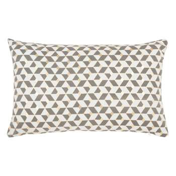 Blue, Gold and White Cushion Cover (H30 x W50cm)