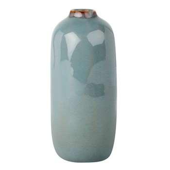 Blue-Grey Stoneware Vase (H17.5 x W8 x D8cm)