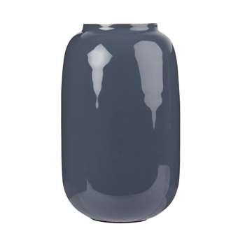Blue Metal Vase (H17 x W9.5 x D9.5cm)