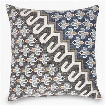 Blue Poppy Field Cushion - Blue (H50 x W50cm)