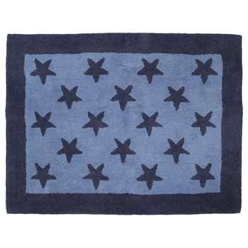 Blue Stars Wool Rug