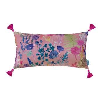 Bluebellgray - Peggy Sherbet Velvet Tassel Cushion (H30 x W58cm)