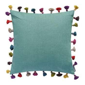 Bluebellgray - Tassel Cushion - Jade (H45 x W45cm)