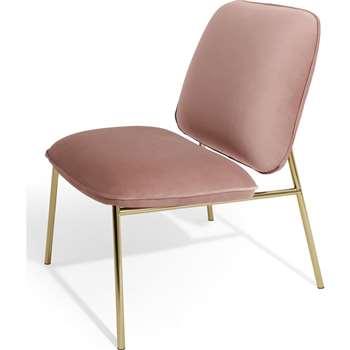 Blush Accent chair, Vintage Pink Velvet (H84 x W61 x D72cm)