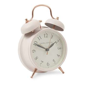 Blush Pink Medium Bell Alarm Clock (17 x 11.5cm)