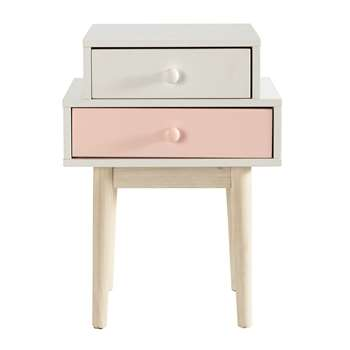 BLUSH Wooden bedside table in white (57 x 42cm)