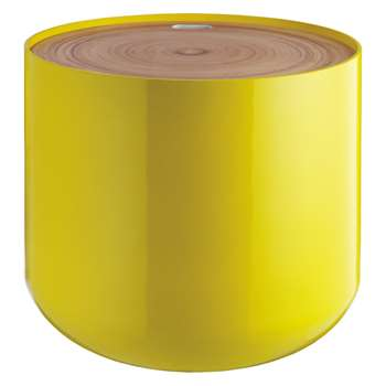 Blyth Yellow storage side table (Diameter 48cm)