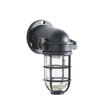 BOAT Black Outdoor Wall Lamp (H26.5 x W14 x D16cm)