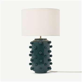 Bobble Table Lamp, Teal Ceramic (H52 x W30 x D30cm)