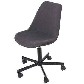 BOCA Anthracite Grey Adjustable Wheeled Desk Chair (H84 x W59 x D57.5cm)