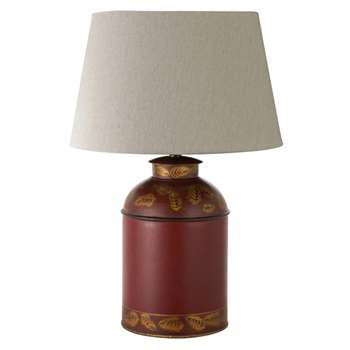 Bohea Large Handpainted Table Lamp - Red (36 x 23cm)