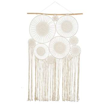 BOHEME 10 White Cotton Hang-Up Dreamcatchers (217 x 120cm)