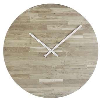 BOHEME - Teak and Recycled Wood Clock (H70.5 x W70.5 x D2.5cm)