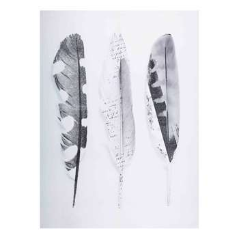 BOHEMIAN Printed feather artwork (H140 x W100 x D3cm)