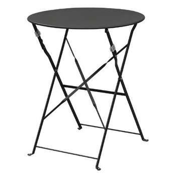 Bolero Black Pavement Style Round Steel Table (71 x 59.5cm)