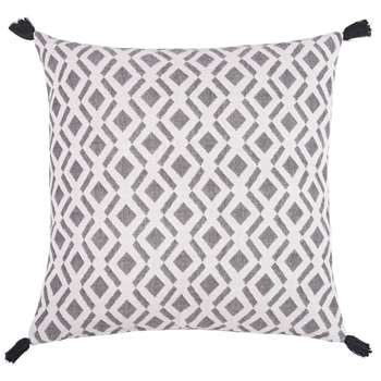 BOMAN Black and White Cotton Cushion Cover (H50 x W50cm)