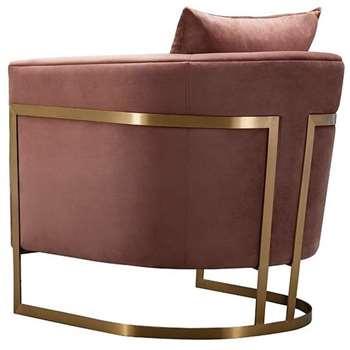 Bonetti Armchair Blush Pink (H74 x W76 x D80cm)
