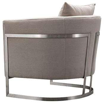 Bonetti Armchair Natural (H74 x W76 x D80cm)