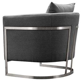 Bonetti Armchair Slate Grey (H74 x W76 x D80cm)