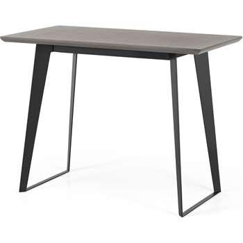 Boone Bar Table, Grey Concrete Resin Top (H90 x W120 x D65cm)