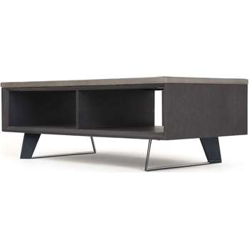 Boone Coffee Table With Storage, Concrete resin top (39 x 121cm)