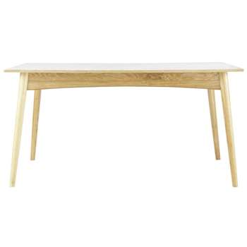 BOOP Wooden extending dining table in white (75 x 150-220cm)