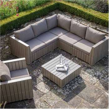 Bosham Outdoor Corner Sofa Set in Polywood 66.5 x 213cm