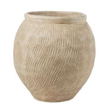 BOSPHORE Sandy Ceramic Pot, Beige (H48 x W45 x D45cm)