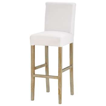 BOSTON Bar stool to be covered, with white legs (113 x 40cm)