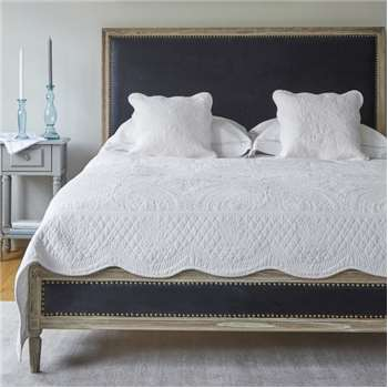 Boston Bed - Superking Navy Velvet (H128 x W194 x D218cm)