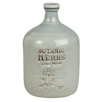 BOTANIQUE - Light Green Ceramic Bottle Vase (H26 x W16.5 x D16.5cm)