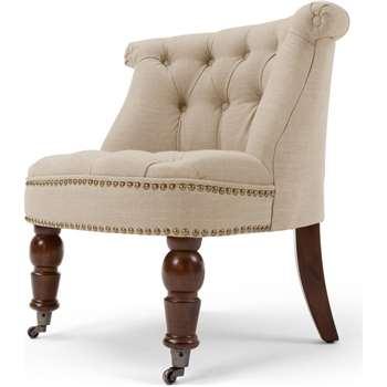Bouji Chair, Biscuit Beige and Vintage Brown (70 x 67cm)