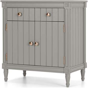 Bourbon Vintage Compact Sideboard, Copper and Grey (H84 x W78 x D47cm)