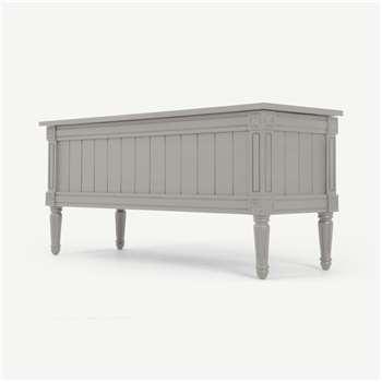 Bourbon Vintage Ottoman Bench, Grey (H50 x W110 x D40cm)
