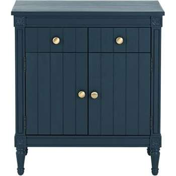 Bourbon Vintage Sideboard, Dark Blue (83 x 80cm)