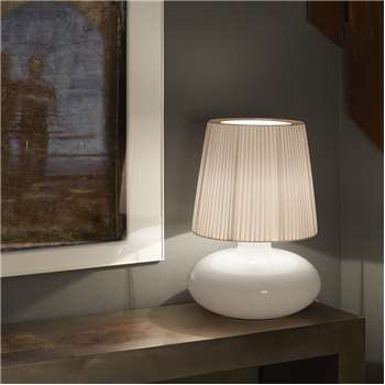 Bover - Muf Glass Table Lamp - White Ribbon - 01 (H48.5 x W30 x D30cm)