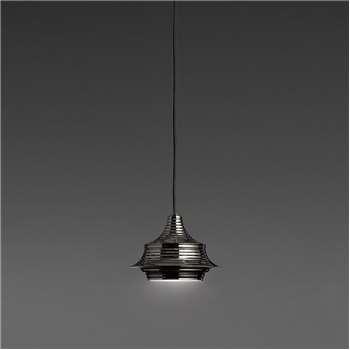 Bover - Tibeta 02 Ceiling Pendant - Black Chrome (H12.5 x W18 x D18cm)