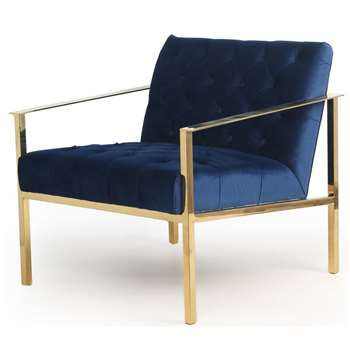 Boylan Armchair - Indigo Blue (H75 x W78 x D77cm)