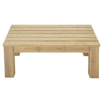 BRÉHAT Wooden garden coffee table (35 x 100cm)