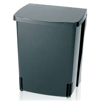 Brabantia 10 Litre Built-In Kitchen Bin - Black (Height 33cm)