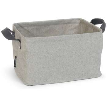 Brabantia 35 Litre Folding Laundry Basket - Grey 26 x 44cm