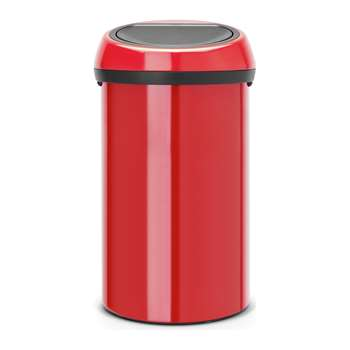 Brabantia 60L Touch Bin - Passion Red 70.5 x 40cm