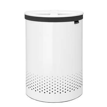 Brabantia Selector Laundry Bin, 55L - White 64 x 44.30cm
