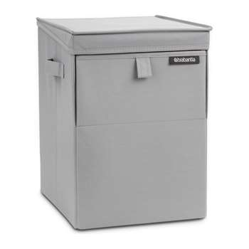 Brabantia - Stackable Laundry Box - Grey (H44.5 x W32 x D37cm)