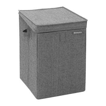 Brabantia - Stackable Laundry Box - Pepper Black (H44.5 x W32 x D37cm)